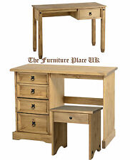 Corona Waxed Pine Mexican Style 4 or 5 Drawer Dressing Table Stool Dresser Desk