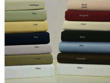The ultimate in luxury King Size Bed Sheet Set  Woven from pure 100% Cotton
