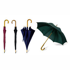 CLASSIC Automatic Umbrella with WOODEN Crook Handle - Wedding Brolly Walking