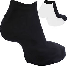 ladies womens Trainer Liner socks sports 3,6,9,12,24 pairs black white D5