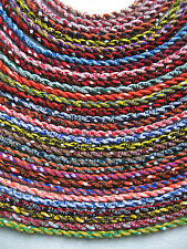 """(1pc) Sport Titanium College Necklace 2 Ropes Twisted /18""""/ NIB/ FAST SHIPPING"""
