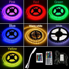 Waterproof 5M/10M/15M SMD 5050 RGB Warm Day LED Strip Lights Xmas Festival Tree