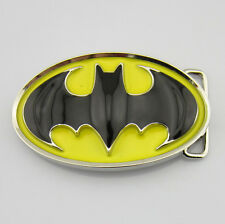 Western New Cowboy Batman Yellow Black Men Metal Belt Buckle Leather Costume 3D