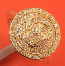 GLITTERING Topaz & Zircon 18k Gold Filled Gemstones Rings US#Size5 6 7 8 9 B6088