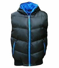 New SK-5 Men's Puffer Hooded Gilet Bodywarmer Quilted Fashion Coat black 2043