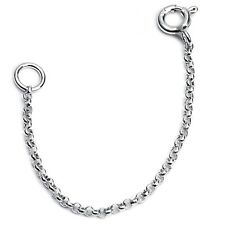 "925 Sterling Silver 2"" to 6"" 1mm Cable Chain Necklace Extender (Belcho 420)"