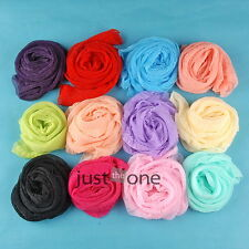 Fashion Lady Gril Soft Chiffon Nylon Candy Color Soft Long Wrap Scarf Shawl Hot