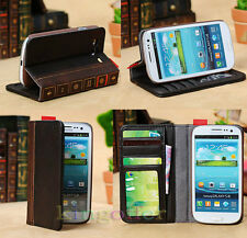NEW Wallet Flip Leather Retro Book Design Case For Samsung Galaxy III S3 I9300