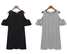 hot lady clothes butterfly sleeve cute strapless dress shirt dress