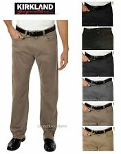 MENS 5 POCKET BRUSHED COTTON PANT KHAKI KIRKLAND SIGNATURE Standard Straight NWT