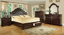 Brand New Bed Bedroom Set Queen king Bed in Cherry Color Furniture CM7162