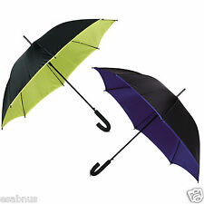 Big 2 Layer Umbrella. Two Tone, Auto open Coloured Edge. 8 Panels.DOUBLE CANOPY