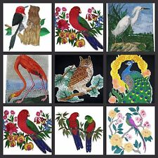 Beautiful Bird With Scene Embroidered Iron On Patches