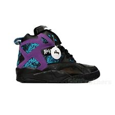 Reebok BLACKTOP BATTLEGROUND Pump (Black/Exteme Purple/Blue) Men's Shoes V56091
