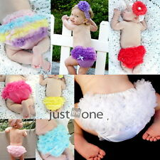 Sweet Baby Girls Pettiskirt Ruffle Panties Briefs Bloomer Diaper Cover 6-24M HOT