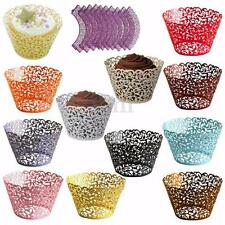 12X Filigree Vine Cake Cupcake Wrappers Wraps Cases Wedding Birthday Baby Shower