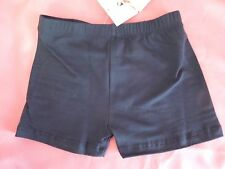 NWT Child Black Low Rise Dance Shorts Ballet Cheer Skate Cotton Low Rise 187212