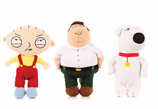 """NEW OFFICIAL 7"""" FAMILY GUY SOFT TOYS BRIAN GRIFFIN STEWIE GRIFFIN PETER GRIFFIN"""