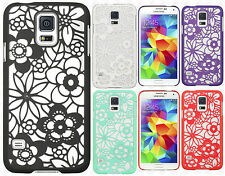 For Samsung Galaxy S5 TPU FLOWER GUMMY Hard Case Phone Cover Accessory