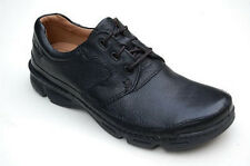 CLARKS 'Rico Move' Men's Black 100% Leather Lace-Up Casual/Formal Shoes