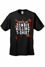 MEN'S FUNNY TEE This Is My Zombie Killing T-Shirt LIVING DEAD BLOOD S-3X 4X 5X