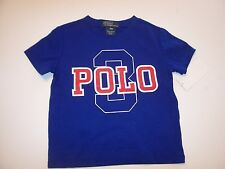 NEW POLO RALPH LAUREN white blue red  t shirt baby toddler boys 9 mo 12 mo 18 mo