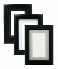 3QTR Black Frame in 20mm Moulding with Mount Various Sizes