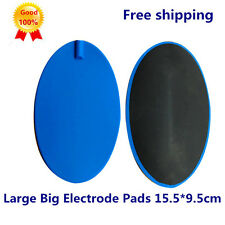 9.5X15.5cm Oval Large Big Replacement Electrode Pads For Tens machine Reusable