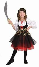 Girls Deluxe Pirate Costume Deep Sea Buccaneer Fancy Dress Halloween Childs NEW