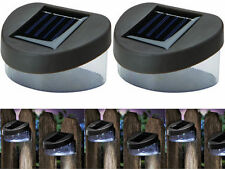SOLAR POWERED DOOR FENCE  WALL STEP LIGHTS LED OUTDOOR GARDEN LIGHTING 2/4/6 NEW