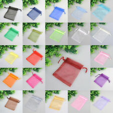 30pcs /100pcs Organza Jewelry Packing Pouch Wedding Favor Gift Bags Many Color