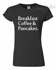 Breakfast Coffee + Pancakes Funny Hipster Tshirt Funny Food t Shirt Top Tumblr