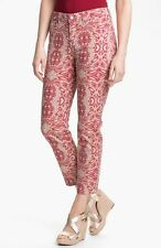 NEW NYDJ Not Your Daughters Jeans Alisha fitted ANKLE pants Tribal Tiki red