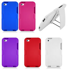 For iPod Touch 4th Gen COMBO Belt Clip Holster Hard Case Phone Cover Kick Stand