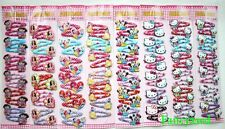 120 pcs /10 cards Cartoon 5 Different Design Girl Hair Accessories Hairpin clips