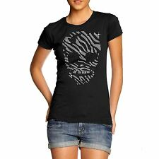 Women's Mummified Skull Rhinestone Crystal Diamante Gem T Shirt