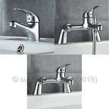 Ares Basin Mixer Bath Shower Mixer Bath Filler Bathroom Cloakroom Chrome Taps
