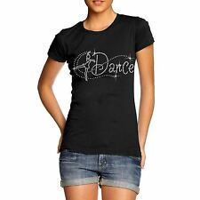 Women's Rhinestone Dance Ballet Diamante T Shirt