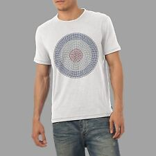Men's Bullseye Target Rhinestone Diamante Gem Crystal T Shirt- Adult Size S- XL