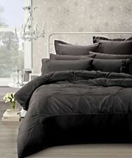 Phase 2 Robyn Charcoal Pintuck Quilt Doona Cover Set SINGLE, DOUBLE, QUEEN, KING