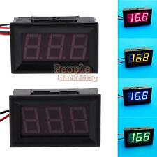 P4PM New Direct Current 2 Wires 0.56 Inches LED Voltmeter Panel Mini Volt Meter