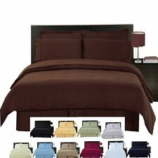 Wrinkle Free Solid MicroFiber 4-PC Comforter set  .