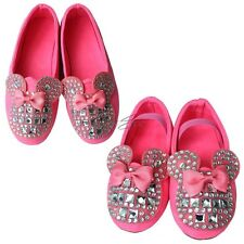 2014 NEW Girls Kids Toddler Bling Rhinestone Bow Candy Soft Flat Sneaker Shoes