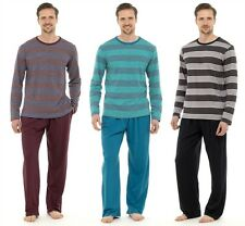 Men's Stripe Pyjamas Long Sleeve Top & Long Pants,Cotton PJs Loungewear- 339A