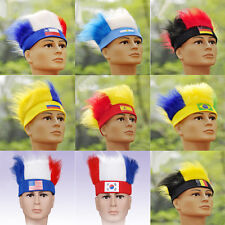 men's Wig Hat 2014 Brazil World Cup FIFA Football National Fans soccer head NC13