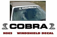 """N063 FORD MUSTANG - COBRA"""" with SNAKES - WINDSHIELD DECAL"""