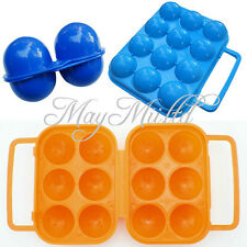Outdoor Folding Plastic Carry 2/6/12 Eggs Box Case Outdoor Storage Container JM