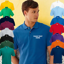 YOUR TEXT HERE Personalised FOTL 63402 Embroidered Polo Shirts, Stag, Work