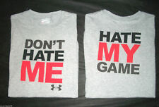 Under Armour Charged Cotton Heatgear Dont Hate Me Hate My Game Mens Tshirt L
