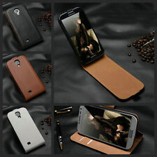 REAL VINTAGE GENUINE 100% LEATHER FLIP CASE COVER FOR ALL SAMSUNG GALAXY MODELS